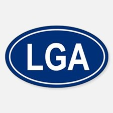 LGA Oval Decal