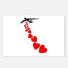 Make love not war Valentine's Postcards (Package o