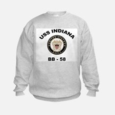 USS Indiana BB 58 Sweatshirt