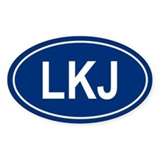 LKJ Oval Decal