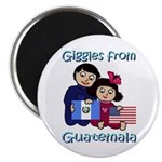 "Giggles Girl & Boy 2.25"" Magnet (100 pack)"