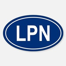 LPN Oval Decal