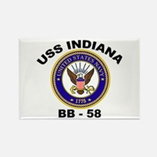 USS Indiana BB 62 Rectangle Magnet