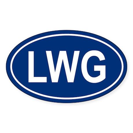 LWG Oval Sticker