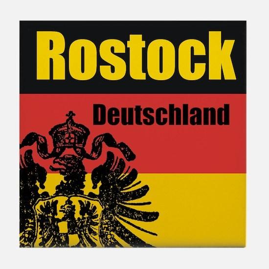 Rostock Deutschland Tile Coaster