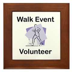 Walk Event Volunteer Framed Tile