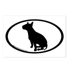 Bull Terrier Oval Postcards (Package of 8)