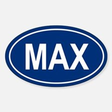 MAX Oval Stickers