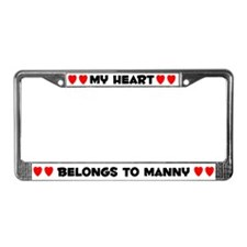 My Heart: Manny (#004) License Plate Frame