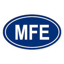 MFE Oval Bumper Stickers