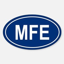MFE Oval Bumper Stickers