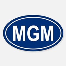 MGM Oval Decal