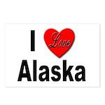 I Love Alaska Postcards (Package of 8)