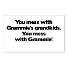 Don't Mess with Grammie's Grandkids! Bumper Stickers