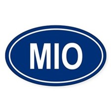 MIO Oval Decal
