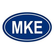 MKE Oval Bumper Stickers