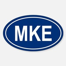 MKE Oval Decal