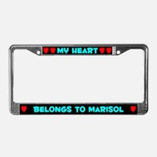 My Heart: Marisol (#003) License Plate Frame