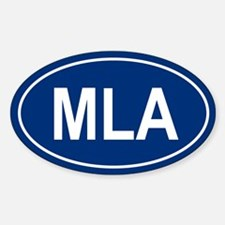 MLA Oval Decal