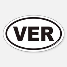 VER Euro Oval Decal