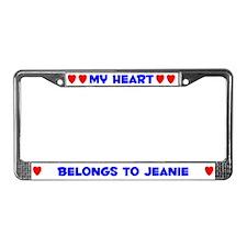 My Heart: Jeanie (#005) License Plate Frame