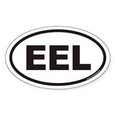 EEL Euro Oval Decal