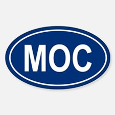 MOC Oval Decal