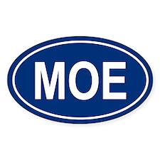 MOE Oval Bumper Stickers