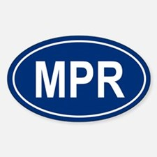 MPR Oval Decal
