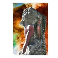 Merging of a Naked Man Postcards (Package of 8)