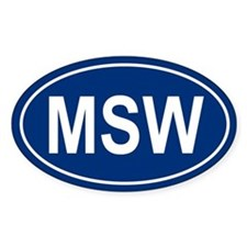 MSW Oval Decal