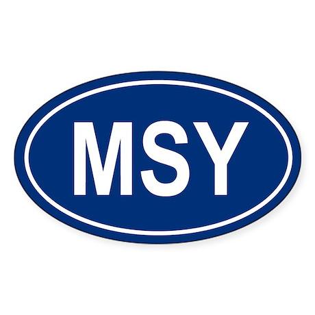 MSY Oval Sticker