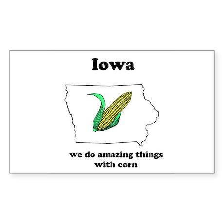Iowa Rectangle Sticker