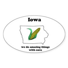 Iowa Oval Decal