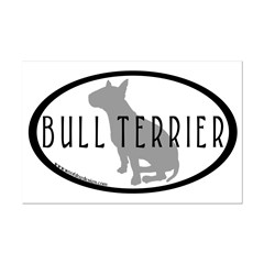 Bull Terrier Oval w/Text Posters