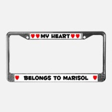 My Heart: Marisol (#004) License Plate Frame