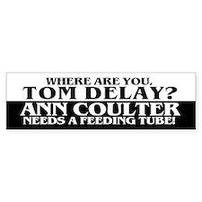 WHERE ARE YOU TOM DELAY? Bumper Bumper Sticker