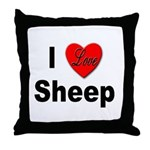I Love Sheep for Sheep Lovers Throw Pillow