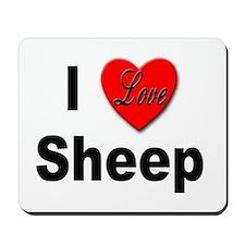 I Love Sheep for Sheep Lovers Mousepad