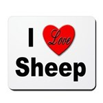 I Love Sheep for Sheep Lovers Mousepad