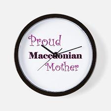 Proud Macedonian Mother Wall Clock