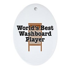 Best Washboard Player Ornament (Oval)