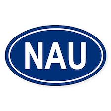 NAU Oval Bumper Stickers
