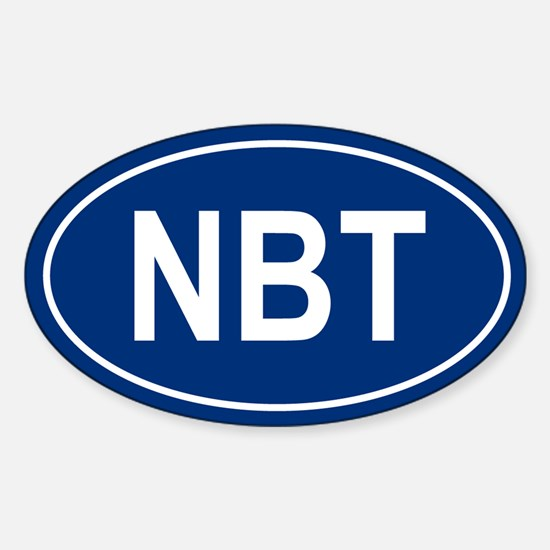 NBT Oval Decal