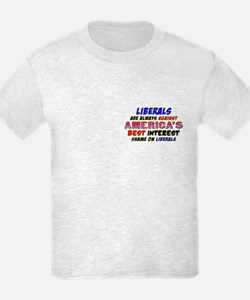 Liberals Are Always Against America T-Shirt