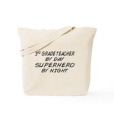 3rd Grade Teacher Superhero Tote Bag