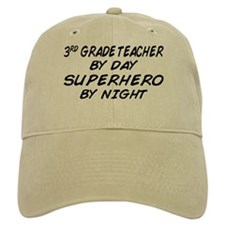 3rd Grade Teacher Superhero Baseball Cap