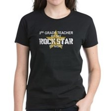 3rd Grade Teacher Rock Star Tee