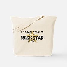 3rd Grade Teacher Rock Star Tote Bag