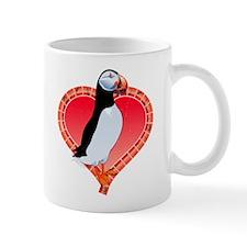 Valentine's Day Puffin Red Mug
